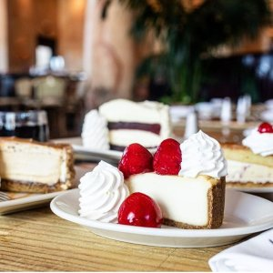 Get a $15 Bonus CardThe Cheesecake Factory Buy $50 Gift Card