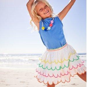 低至3折+额外9折最后一天:Mini Boden官网 英伦高品质童装夏季清仓,贴布绣T恤$6.75起