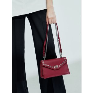Charles & KeithBerry Studded Crossbody Bag | CHARLES & KEITH