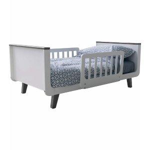 Little PartnersMOD Toddler Bed - White & Earl Grey