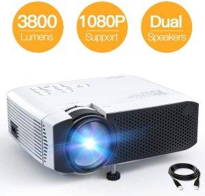 APEMAN 迷你便携投影仪 支持1080P 3800流明 限时8折 $60.79 - 北美省钱快报