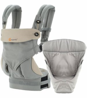 $102.39(原价$180)+无税折扣升级:Ergobaby 360 四式婴儿背带+婴儿垫套装 灰色