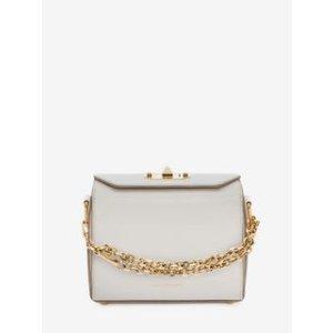 Women's White Box Bag 19 | Alexander McQueen