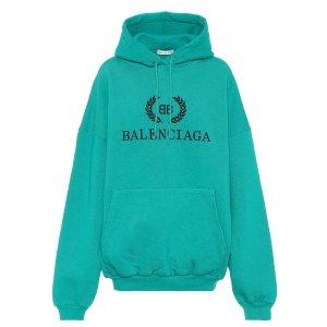 Balenciaga绿色Logo卫衣