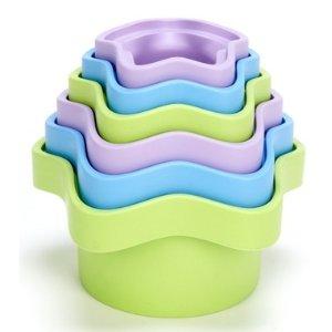 Green Toys适合6个月以上宝宝叠叠玩具杯