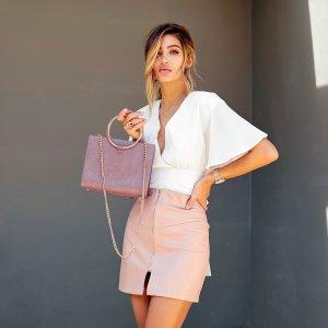 买1送1 变相5折玫瑰色手提包