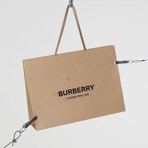 最高送$300礼卡延长一天:Burberry 女士风衣、美包、围巾等热卖