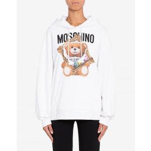 Moschino小熊连帽卫衣