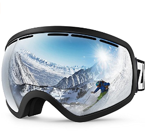 $21ZIONOR Lagopus X10 Ski Snowboard Snow Goggles OTG for Men & Women 100% UV Protection Helmet Compatible Detachable Lens