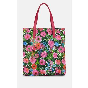 PradaLeather-Trimmed Floral Shopping Tote Bag Leather-Trimmed Floral Shopping Tote Bag