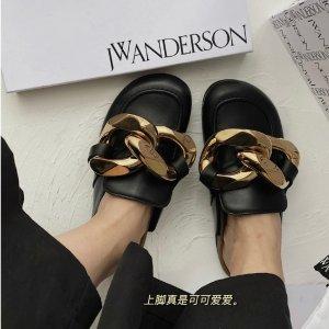 JW Anderson粗金链乐福鞋