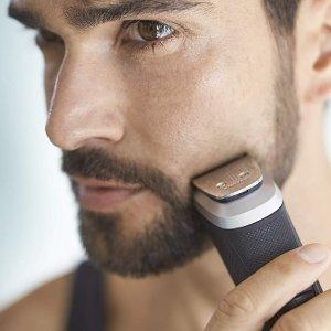 $34.96(原价$49.99) 整洁的男人最帅气史低价:Philips 飞利浦 男士剃须刀 多用途面部造型器 小小机身18个功能