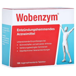 Wobenzym消除肌肉酸痛 增强关节健康高纯度酵素 100片