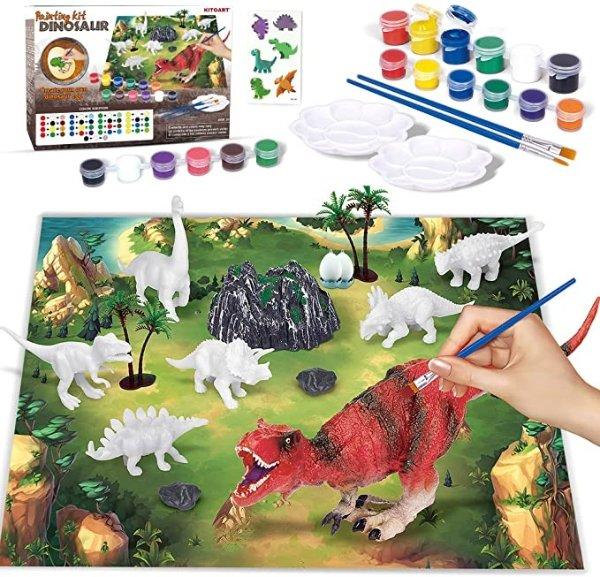 恐龙涂色绘画套装