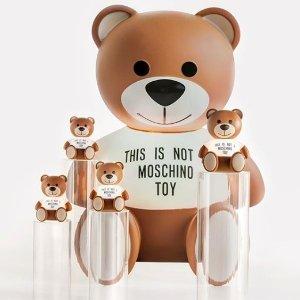 5折起+独家9折 £92就收小熊T恤Moschino 超萌小熊衣服、包包限时热卖