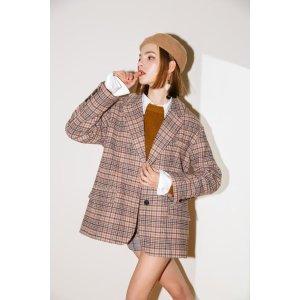 Wool Check Coat 格纹西装外套