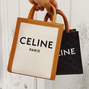 6.3折 $1198(原价$1890)Celine 托特包 帆布+小牛皮 经典混搭超耐背 随时截止