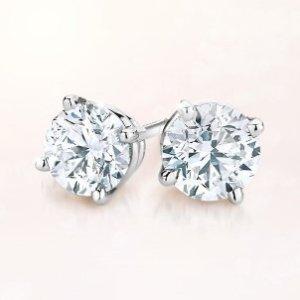 Save 35%Diamond Studs Earrings 14K Gold