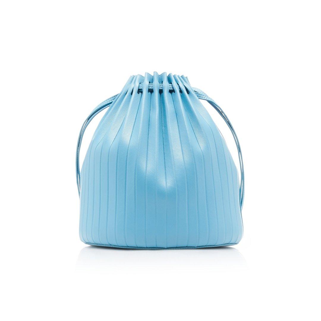 Pleated 新款天蓝水桶包