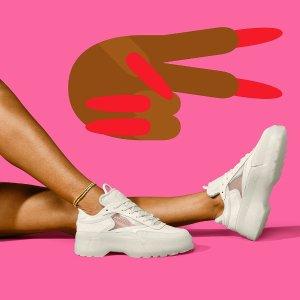 无门槛7.5折 运动内衣才€15Reebok 锐步官网春季大促 热门老爹鞋、小白鞋、健身套装都有