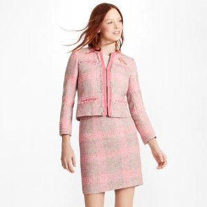 Brooks BrothersChecked Boucle Jacket - Brooks Brothers
