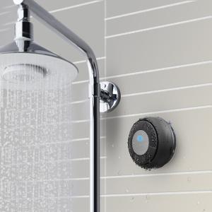 $19.99(原价$49.99)TaoTronics无线蓝牙防水音响黑色,就算是洗澡也要来点音乐