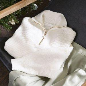 折扣區低至4折+額外9折上新:H&M 精選折扣區女裝特價熱賣 $11.99收毛衣
