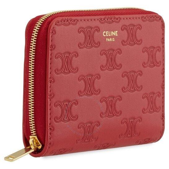 Ladies Embossed 红色钱包