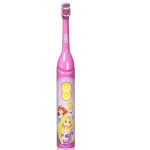 Coral BlueOral-B Kids Battery Power Toothbrush featuring Disney Princess Characters, Extra Soft Bristles, 1 Count