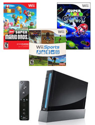 $64Nintendo Wii Remote Plus Essentials Blast from the Past System Bundle