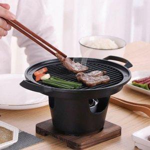 低至€17 烧烤吃着玩日式传统小烤炉 铝合金质地 炭烧/酒精炉都可 野营携带便捷