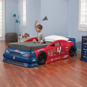 $199Step2 Stock Car Convertible Toddler to Twin Bed