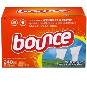 Bounce Outdoor Fresh Dryer Sheets and Fabric Softener, 240 Count @ Amazon