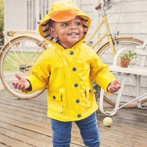 5折起 包邮包退Mini Boden 童装促销 收封面款超萌小黄鸭防雨夹克