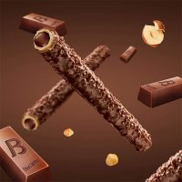 Biscolata 巧克力夹心卷 12条装