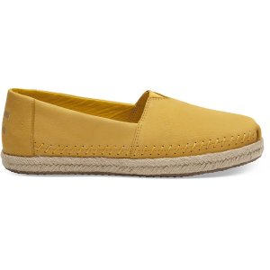 TomsElectric Yellow Nubuck Women's Espadrilles