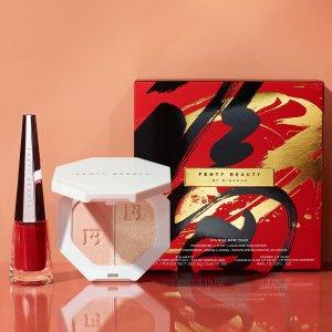 仅售€49.45+3个小样新品上市:Fenty Beauty 新年红高光唇釉限定套装 惊喜来袭 红火喜庆迎春节
