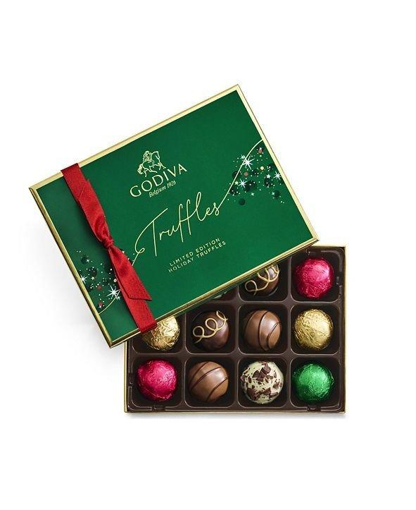 节日巧克力松露礼盒12颗