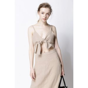 FEW MODABeige Bow Tie Dress