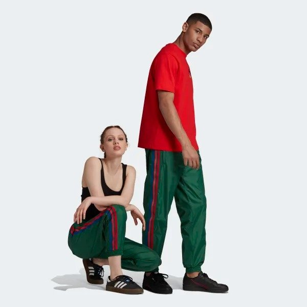 3D Trefoil 条纹休闲裤
