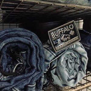 第二件2折 收磨边微喇牛仔裤Buffalo Jeans 牛仔裤全场特卖 修身百搭款