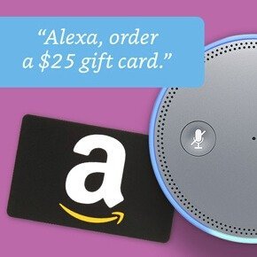 Get $5 Promo Code Order first $25 Amazon Gift Card with Alexa