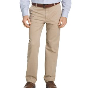 IzodPerformance Stretch Classic Fit Flat Front Pants