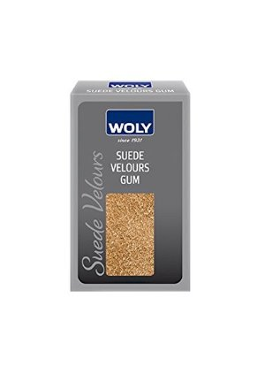 Woly Suede Gum. Special Stain Remover for All Designer Suede Leather Shoes, Handbags and Clothing.