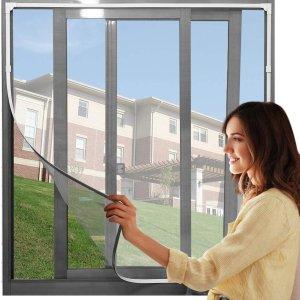 低至6.5折 £3.99收简易纱窗Amazon 夏季纱窗精选 防虫网 学生宿舍、公寓必备好物