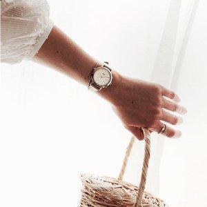 额外减6折 $57+包邮Fossil 精选时装腕表 多色款 玫瑰金水晶款超美