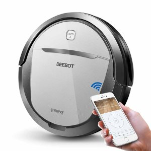 $184ECOVACS DEEBOT M80 Pro Robotic Vacuum Cleaner with Mop and Water Tank, for Hard Floor, Low-pile Carpet, APP Control
