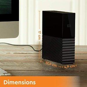 Western Digital12T容量,兼容系统自动备份移动硬盘