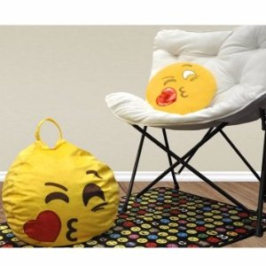 Sensational Emoji Pals Sealed With A Kiss Mini Bean Bag With Handle Ncnpc Chair Design For Home Ncnpcorg
