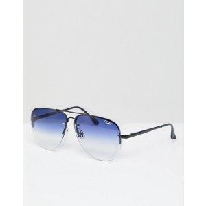 9ebb333358a4a Quay Australiamuse fade aviator sunglasses in ombre tinted lens at asos.com